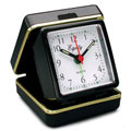 EQUITY 20080 Quartz Folding Travel Alarm Clock with Luminous Hands & Dots