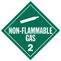 J.J. Keller 266J Non-Flammable Gas (Class 2) Single-Sided Worded Placard