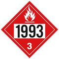 J.J. Keller 3476J 1993 (Class 3) Combustible Liquid Placard