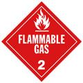J.J. Keller 356J Flammable Gas (Class 2) Placard