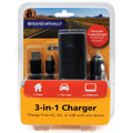 Rand McNally 528002783 3-In-1 Universal GPS Charger