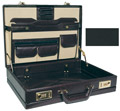 ROADPRO CAP-003PM/BK Premium Leather-Like Expandable Briefcase - Black