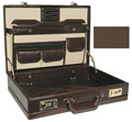 ROADPRO CAP-003PM/BN Premium Leather-Like Expandable Briefcase - Brown