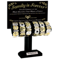 DM Merchandising DISFAMILYBR Empty Display for Family is Forever Tile Stretch Bracelet (FAMILYBR)