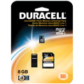 Duracell DU3IN108GR 8GB Micro Secure Digital High Capacity (SDHC) Card with Adapter 