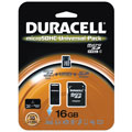 Duracell DU3IN116GR 16GB Secure Digital 3-in-1 Universal Connectivity Kit MicroSDHC Memory Card 