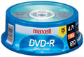 MAXELL DVD+R15SPIN DVD+R Recordable DVD - 16x Speed/4.7GB/180 Minute 15-Pack Spindle 