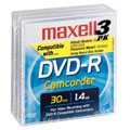 MAXELL DVD-RCAM 30Min/1.4GB DVD-R Discs for Compatible Camcorders - 3-Pack 