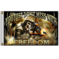 Hot Leathers FGA1046 3'x5' Skull Soldier Flag