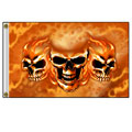 Hot Leathers FGA1053 3'x5' Burn It Up Skulls Flag
