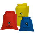 GeckoBrands GDB3PYBR Lightweight Compression Dry Bags Assortment Red/Blue/Yellow