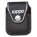 ZIPPO LPCBK Black Leather Lighter Pouch with Clip 
