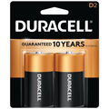 DURACELL MN-1300B2 D Cell Alkaline Batteries - 2-Pack