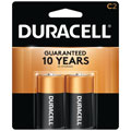 DURACELL MN-1400B2 C Cell Alkaline Batteries - 2-Pack