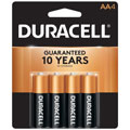 DURACELL MN-1500B4 AA Cell Alkaline Batteries - 4-Pack