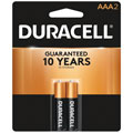 DURACELL MN-2400B2 AAA Cell Alkaline Batteries - 2-Pack