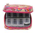 DM MERCHANDISING PB7MAG Women's 7-Day Pill Box Clutch Hacienda Magenta