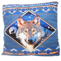 Earthragz PISHEWOL Sherpa Pillow with Wolf Design