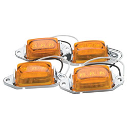 RoadPro 1-3/4 x 1 LED Clearance/Marker Lights Value Pack - Amber  4-Pack at Sears.com