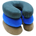 RoadPro RP2805 Neck Support Pillow with Memory Foam - Suede/Tan