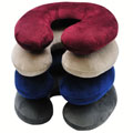 RoadPro RP2807 Neck Pillow with Microfiber Cover Assorted Colors