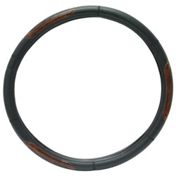 "RoadPro RPSW-3004 18"" Comfort Grip Steering Wheel Cover - Black Wood Grain at Sears.com"