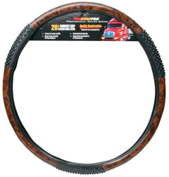 "RoadPro RPSW-4006 20"" Comfort Grip Steering Wheel Cover - Black Wood Grain Massage at Sears.com"