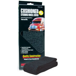 RoadPro 20 to 22 Steering Wheel Cover  Black Cushioned at Sears.com