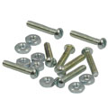 ROADPRO SST-90190 Stove Bolts with Hex Nuts - 3/16 x 1 8-Pack