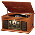 Victrola VTA200B 6-In-1 Record Player with Bluetooth and CD Player  Mahogany