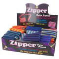 DM MERCHANDISING ZIPCP Zipper Coin Purse 36-Piece Display